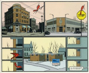 "Selection from Chris Ware's graphic novel, ""Jimmy Corrigan: The Smartest Kid on Earth"" (Pantheon, 2003)."