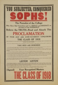 Class of 1918 Broadside - MASC Collection