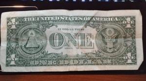 U.S. 1 dollar bill