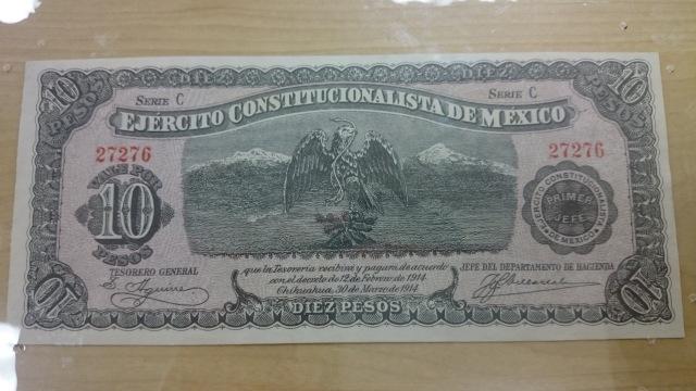Ten Mexican Pesos