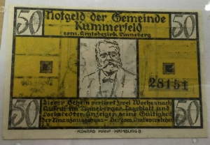 German Colorful Money Donated by Ed Carver MASC in Holland-Terrell Libraries Front Side