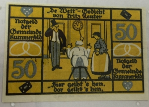 German Colorful Money Donated by Ed Carver MASC in Holland-Terrell Libraries Back Side