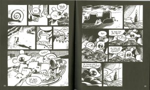 Pages 12 and 13 of Goodbye, Chunky Rice by Craig Thompson