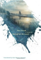 "Book jacket design employing digital collage technique and clipping masks: ""The Storm"" by Margriet De Moor, designed by Barbara de Wilde. (www.bookcoverarchive.com)"