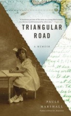 "Book jacket design employing digital collage technique: ""Triangular Road"" by Paule Marshall, designed by Nicole Caputo. (www.bookcoverarchive.com)"