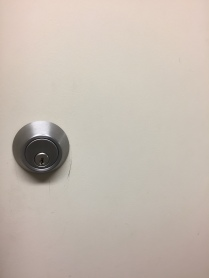 The lock to a door in my house