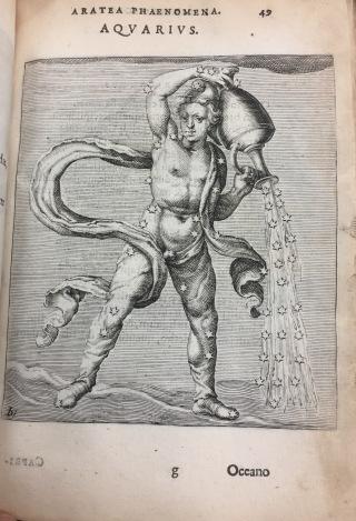 Aquarius image from Solensis Aratus book on astronomy