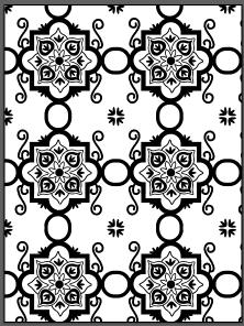 Black and white tile.