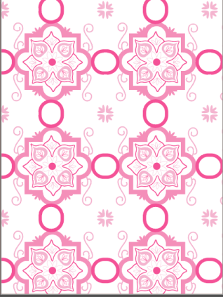 Tile with a fun color scheme.