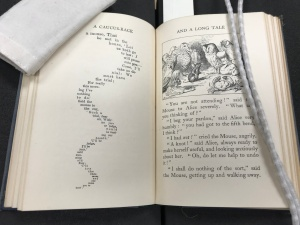 An image of a page in Virginia Woolf's copy of Alice's Adventures in Wonderland by Lewis Carroll.