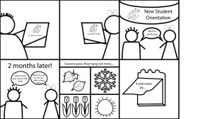 This is a comic created using Adobe Illustrator for DTC 201: Tools and Methods of Digital Technology.